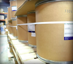 iodine barrels in distribution facility